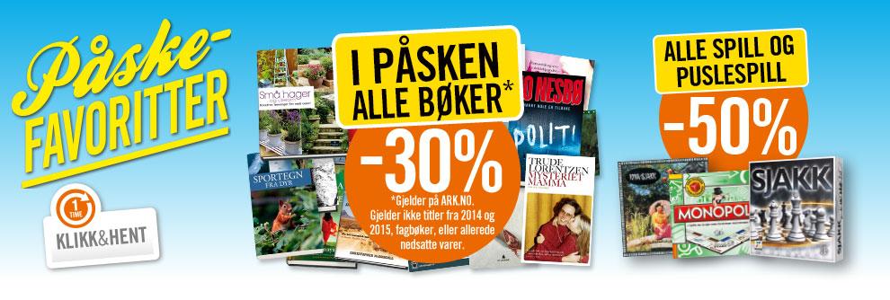 Alle bøker 30%